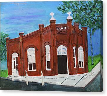Canvas Print featuring the painting The Old Bank by Swabby Soileau