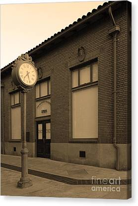 The Old Banker's Building - 5d18429 - Sepia Canvas Print by Wingsdomain Art and Photography
