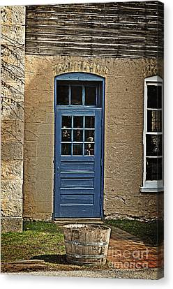 The Old Blue Door Canvas Print by Mary Machare