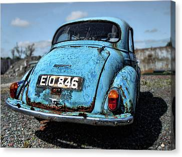 The Old Blue Morris Canvas Print by Julie Williams