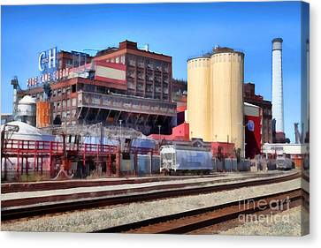 The Old C And H Pure Cane Sugar Plant In Crockett California . 5d16770 Canvas Print by Wingsdomain Art and Photography