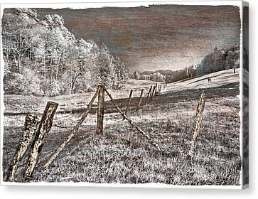 Smokey Mountains Canvas Print - The Old Farm by Debra and Dave Vanderlaan