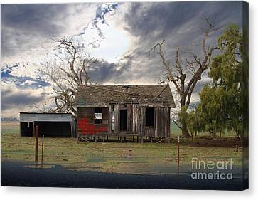 The Old Farm House In My Dreams Canvas Print by Wingsdomain Art and Photography