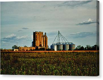 The Old Grain Mill Canvas Print by Kelly Reber