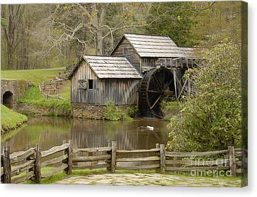 The Old Grist Mill Canvas Print by Cindy Manero