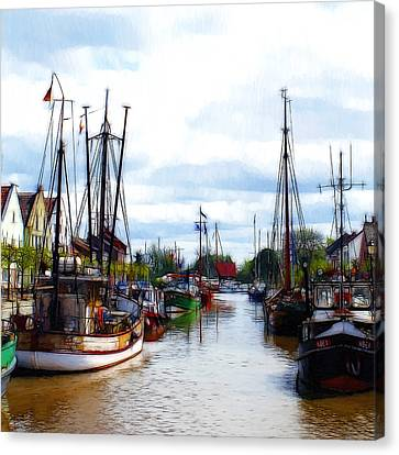 The Old Harbor Canvas Print by Steve K
