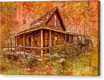 The Old Homestead Canvas Print by Debra and Dave Vanderlaan