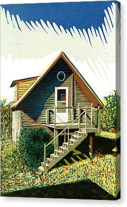 Log Cabins Canvas Print - The Old Log Cabin Guesthouse by David Esslemont