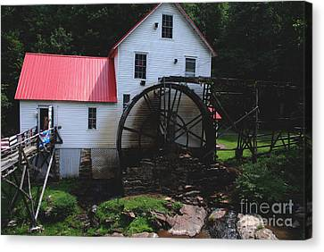 The Old Mill 1886 In Cherokee North Carolina Canvas Print by Susanne Van Hulst