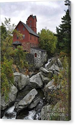 Old Mills Canvas Print - The Old Mill by Diane E Berry