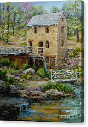 The Old Mill In Spring Canvas Print