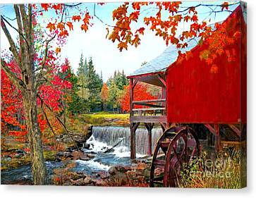 The Old Mill In Weston Vermont Canvas Print by Earl Jackson