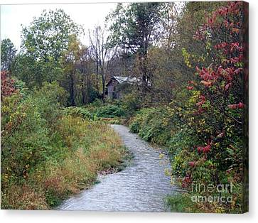The Old Mill Stream Canvas Print by Christian Mattison