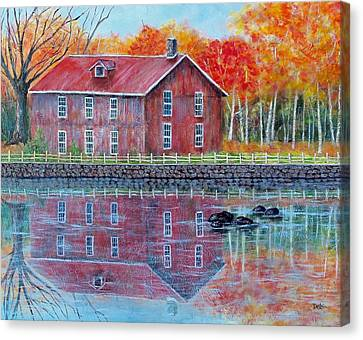 The Old Mill Canvas Print by Susan DeLain