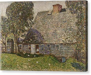 The Old Mulford House Canvas Print by Childe Hassam