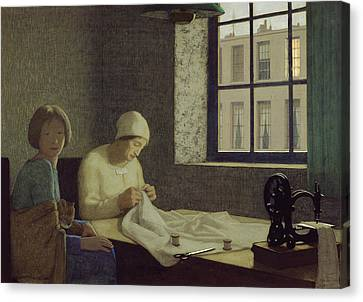 Sewing Machine Canvas Print - The Old Nurse by Frederick Cayley Robinson
