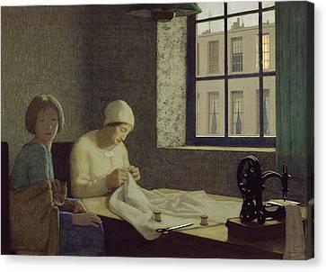 The Old Nurse Canvas Print by Frederick Cayley Robinson
