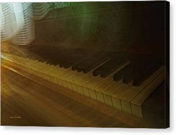 The Old Piano Canvas Print by Donna Blackhall