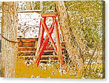 The Old Ranch Tower Canvas Print by Lenore Senior and Dawn Senior-Trask