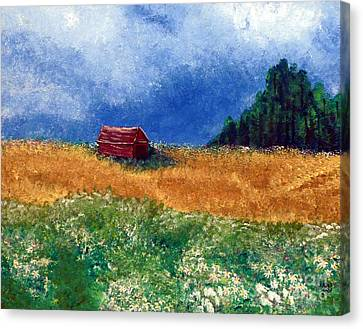 The Old Red Barn Canvas Print by Alys Caviness-Gober