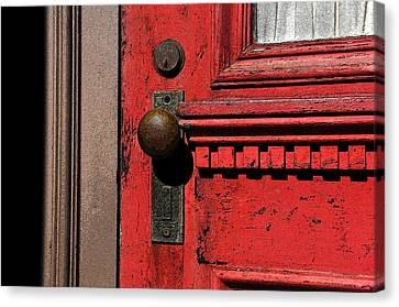 The Old Red Door Canvas Print by David Lee Thompson