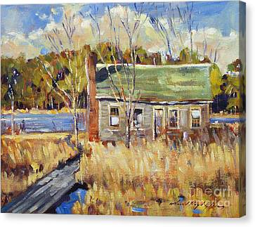 The Old Relic - Plein Air Canvas Print by David Lloyd Glover