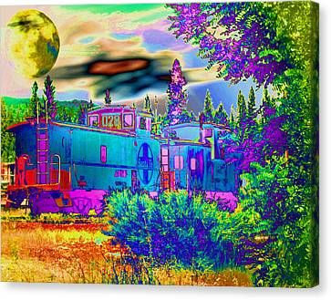 The Old Santa Fe Canvas Print by Joyce Dickens