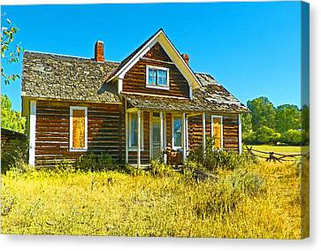 The Old School House Canvas Print by Lenore Senior and Dawn Senior-Trask
