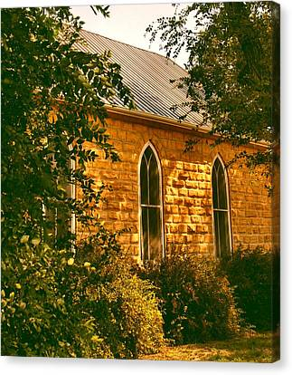 The Old Stone Church Canvas Print by Lynne and Don Wright