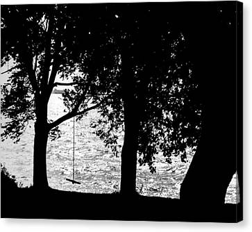 Canvas Print featuring the photograph The Old Swing by Mike Flynn