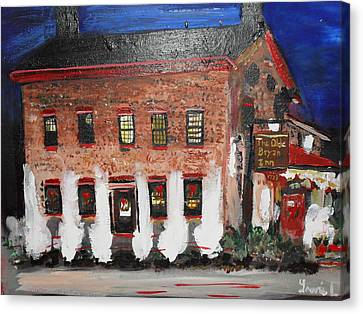 The Olde Bryan Inn Canvas Print by Laurie L