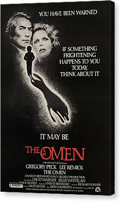 The Omen, From Left, Gregory Peck, Lee Canvas Print by Everett