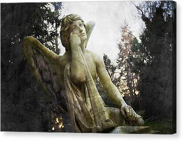 The One Angel Canvas Print by Marc Huebner