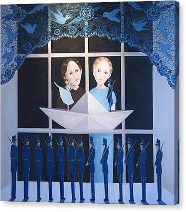 Canvas Print featuring the painting The Other Story by Tone Aanderaa