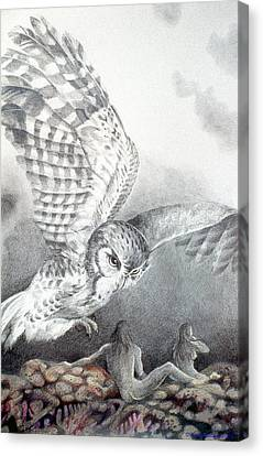 The Owl Of Athena Canvas Print by Kyra Belan