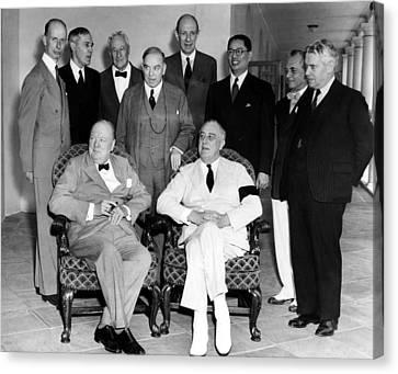 The Pacific War Council, Front, L-r Canvas Print