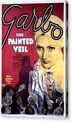 The Painted Veil, Greta Garbo, 1934 Canvas Print