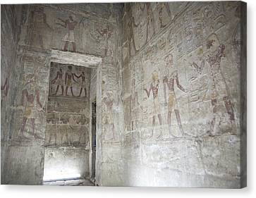 The Painted Walls Of The Ancient Temple Canvas Print
