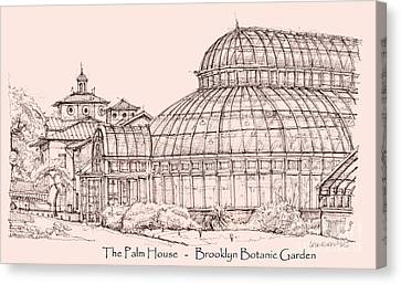 The Palm House In Pink Canvas Print by Adendorff Design