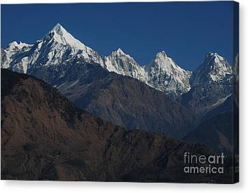 Canvas Print featuring the photograph The Panchchuli Range by Fotosas Photography