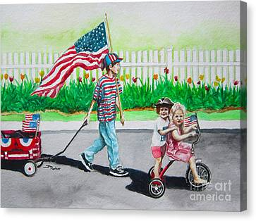 The Parade Canvas Print by Parker Jim