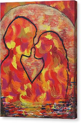 The Passion Of Romance Canvas Print by Evolve And Express