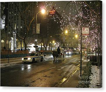 Canvas Print featuring the photograph The Past Meets The Present In Chicago Il by Ausra Huntington nee Paulauskaite