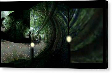 Canvas Print featuring the mixed media The Path by Rc Rcd