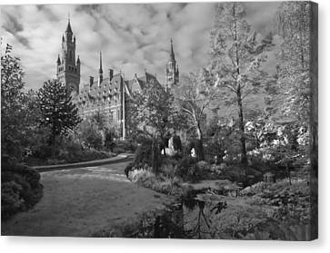 The Peace Palace The Hague The Netherlands Canvas Print by Dawn  Black