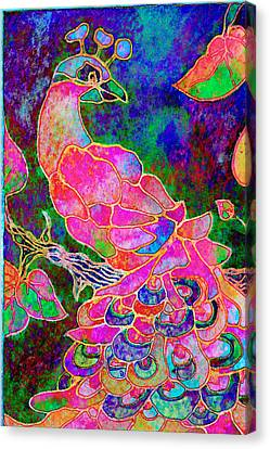 The Peacock Canvas Print by Robin Mead