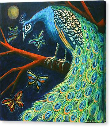 The Peacock Canvas Print