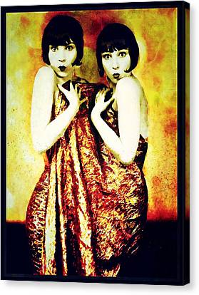 Canvas Print featuring the photograph The Pearl Twins by Mary Morawska