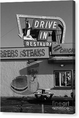 The Penguin Drive-in Canvas Print by David Bearden