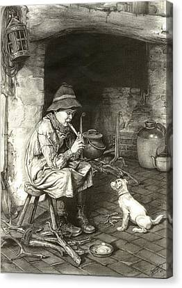 The Penny Whistle Canvas Print by Ronald Osborne